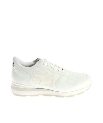 Atlantic Stars Men's  White Leather Sneakers