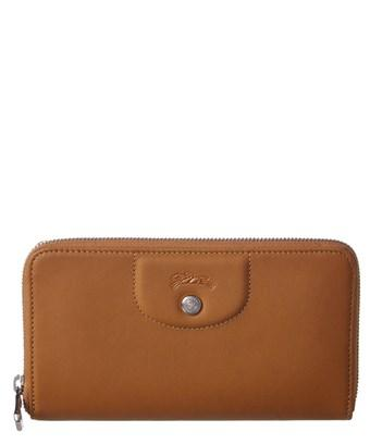 d8c7655a01 Longchamp Le Pliage Cuir Leather Zip-Around Wallet In Natural | ModeSens