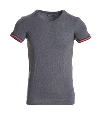 Emporio Armani Men's  Grey Cotton T-Shirt