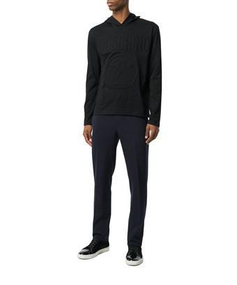 Moschino Logo-Print Cotton-Jersey Jogging Bottoms In Black