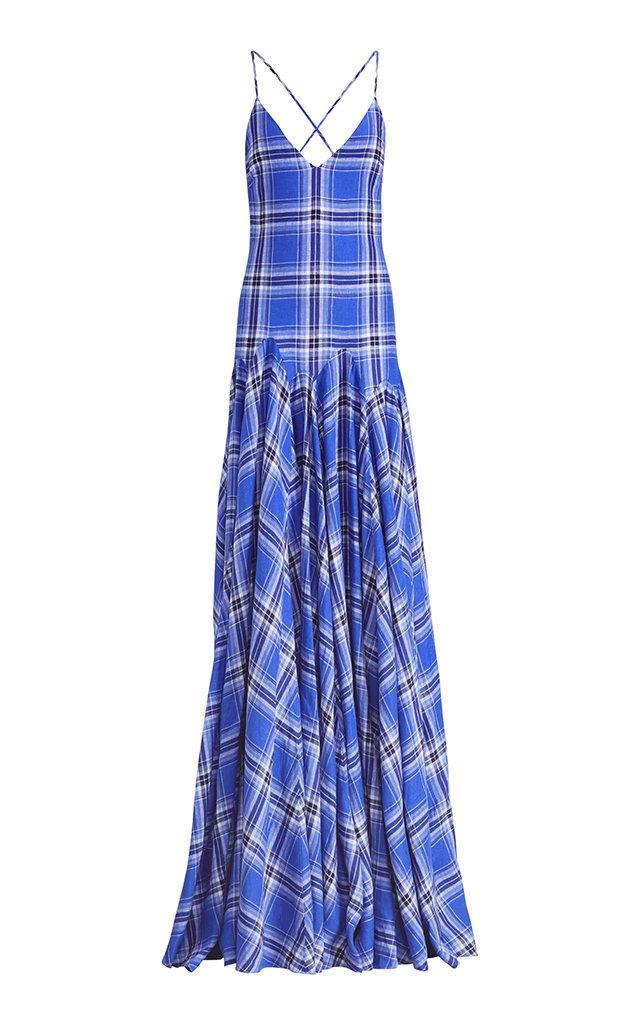 ec929159d82f Ralph Lauren Nadeesha Check Evening Dress In Plaid   ModeSens