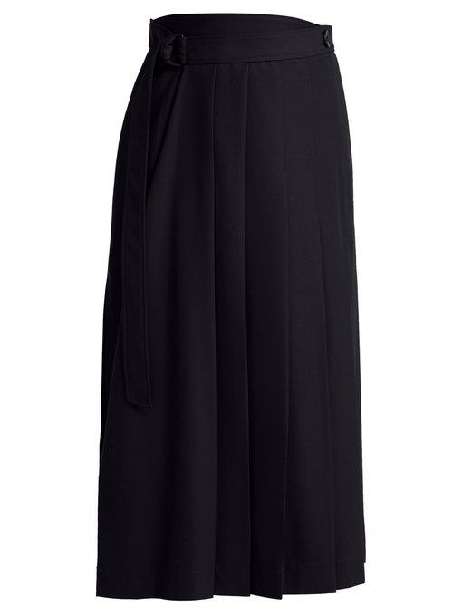 e5728e1f7e Joseph Fleet Asymmetric Crepe Skirt In Navy | ModeSens