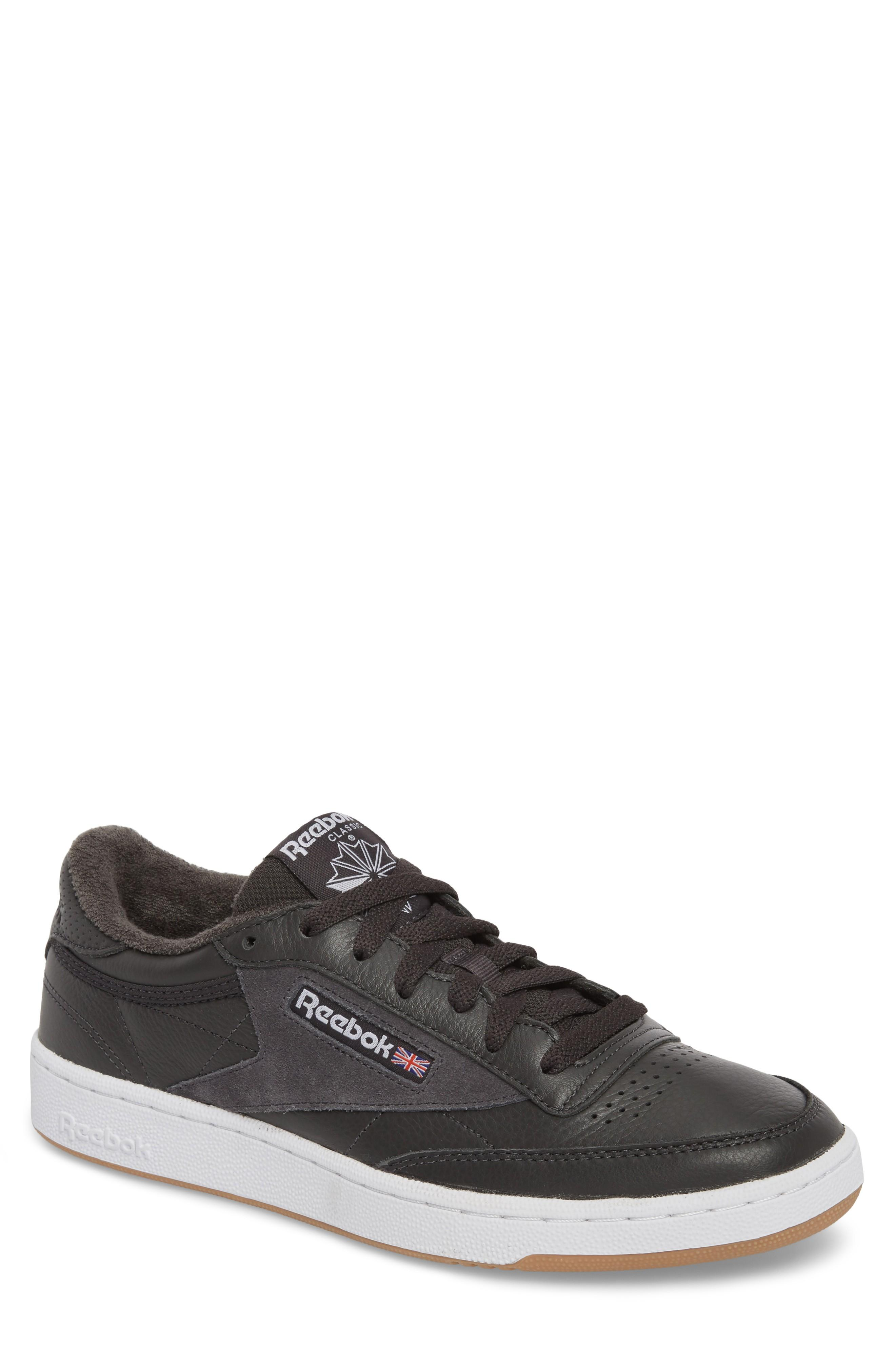 9986250571d Reebok Club C 85 Estl Sneaker In Coal  White  Washed Blue