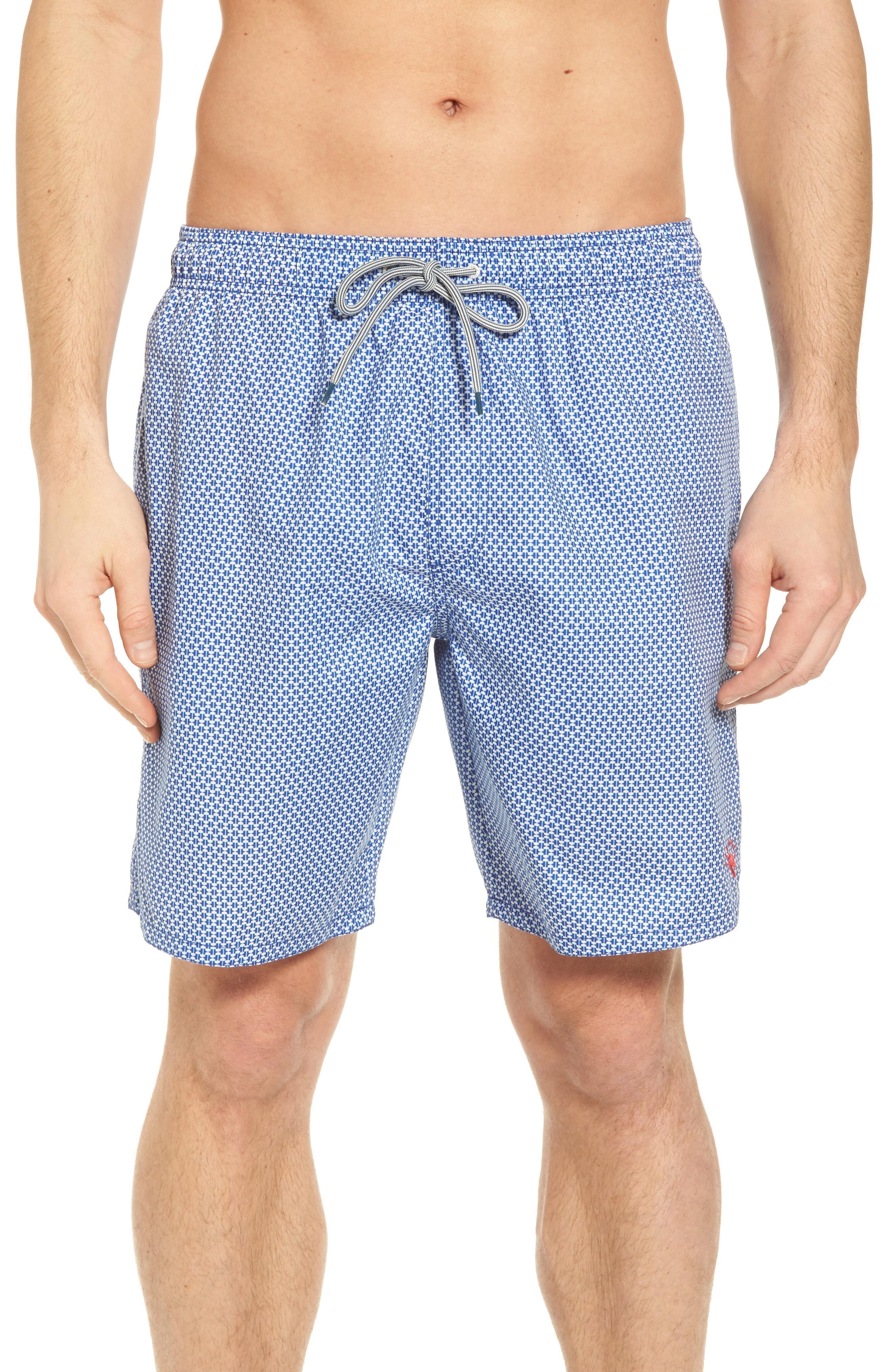 37138744fd94a Ted Baker Larkman Geo Print Swim Shorts In Light Blue   ModeSens