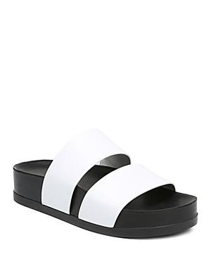 8f53e32ae3 Via Spiga Women's Milton Leather Platform Slide Sandals In Porcelain Leather
