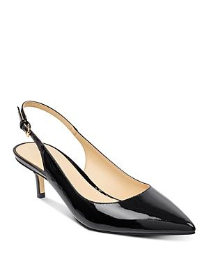 a52990b5577 Ivanka Trump Women s Aleth Patent Leather Pointed Toe Slingback Pumps In  Black