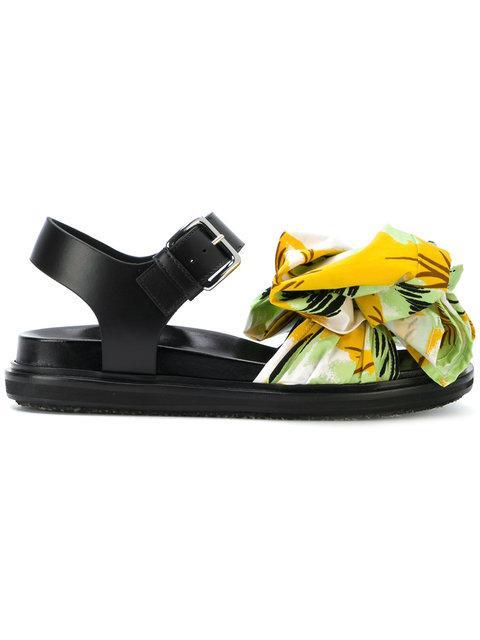 Marni Tropical Bow Sandals