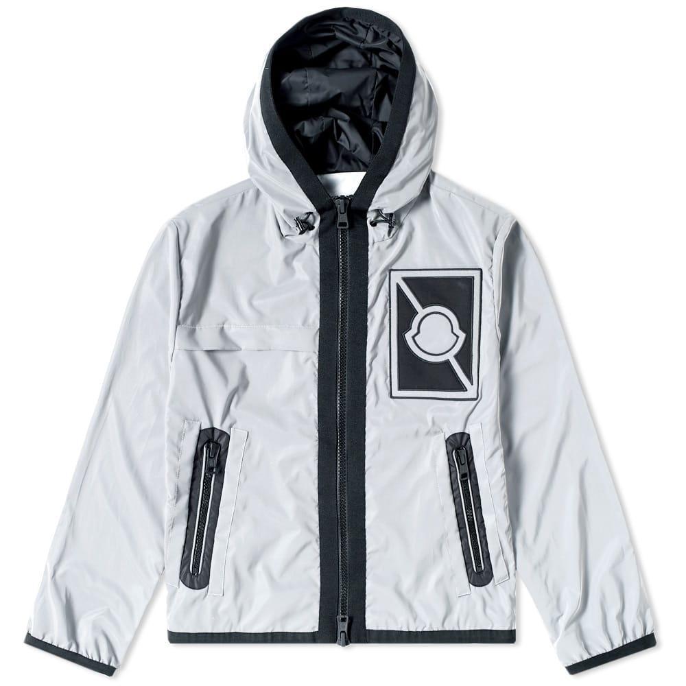 Moncler Gauss AppliquÉd Reflective Shell Jacket In Grey