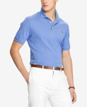a129d44f3 Polo Ralph Lauren Men s Custom Slim Fit Soft-Touch Polo In City Blue ...