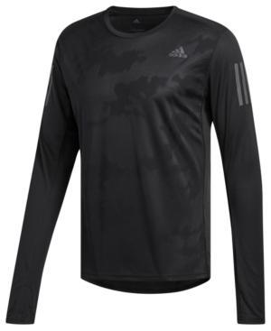 Adidas Originals Adidas Men's Response Climacool Long-Sleeve T-Shirt In Black