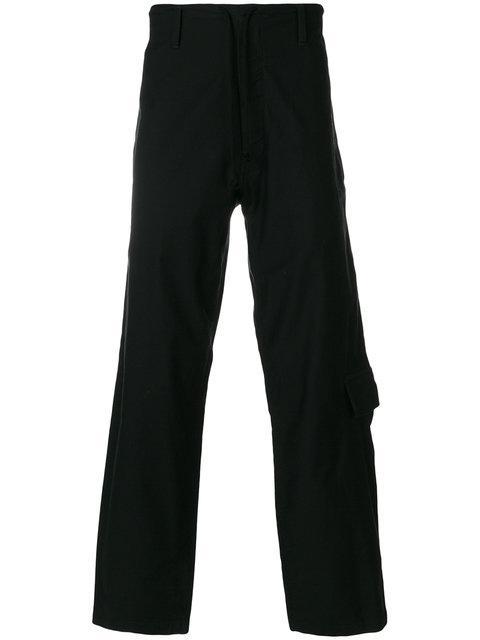 Yohji Yamamoto Cargo Pocket Trousers - Black