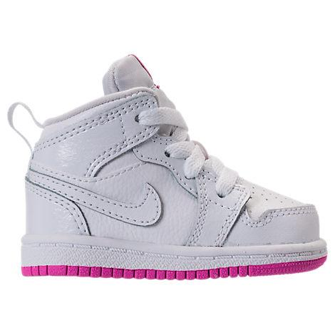 best service 66e80 14b36 Girls' Toddler Air Jordan 1 Mid Basketball Shoes, White