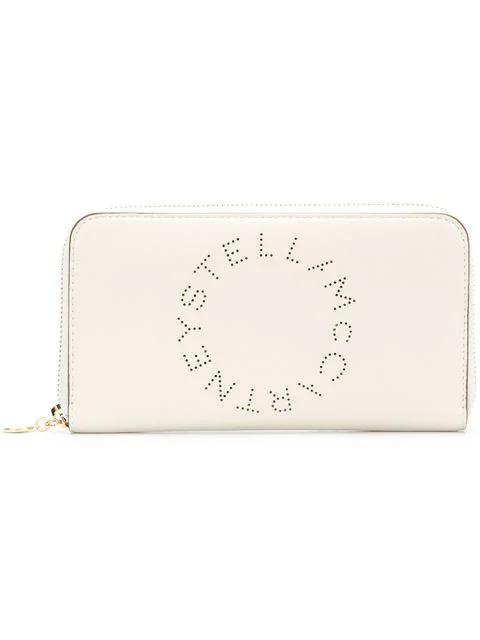 """Stella Mccartney """"Stella Logo"""" White Zip Around Wallet"""