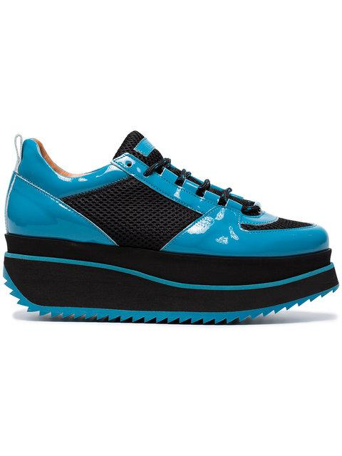 0825974a8f42 GANNI. Ganni Blue Naomi 60 Patent Leather Sneakers - Black