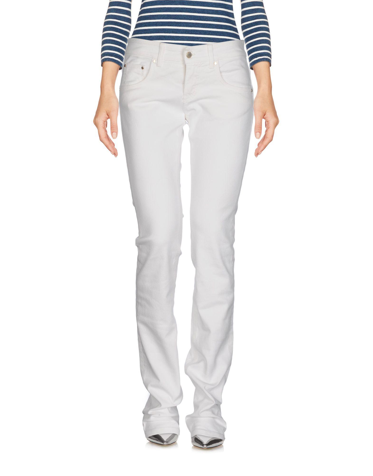 Pinko Denim Pants In White
