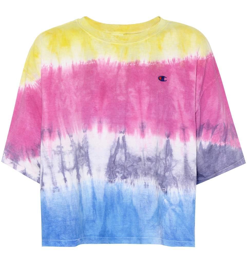 f2d70d0d8887 Champion Tie-Dye Cotton T-Shirt In Multicoloured | ModeSens