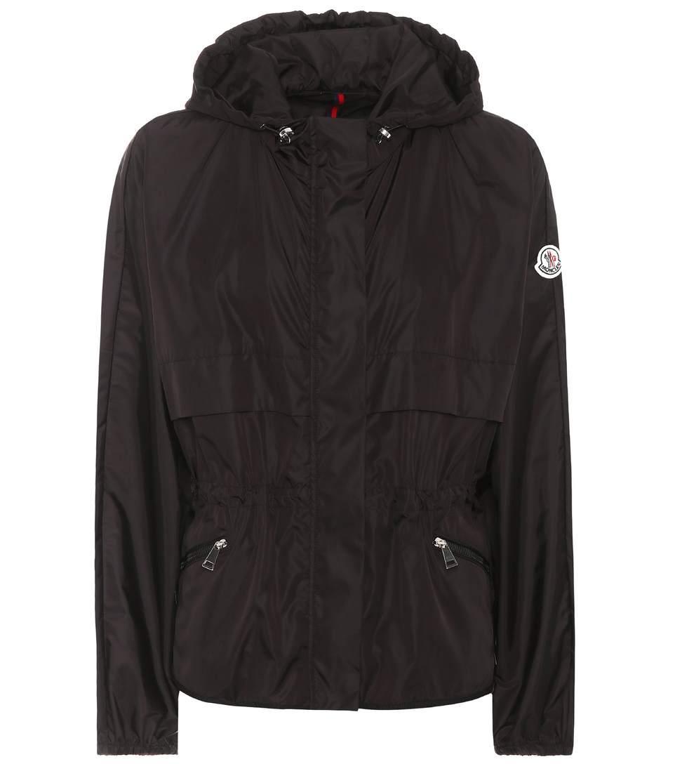 Moncler Jais Hooded Shell Jacket In Black