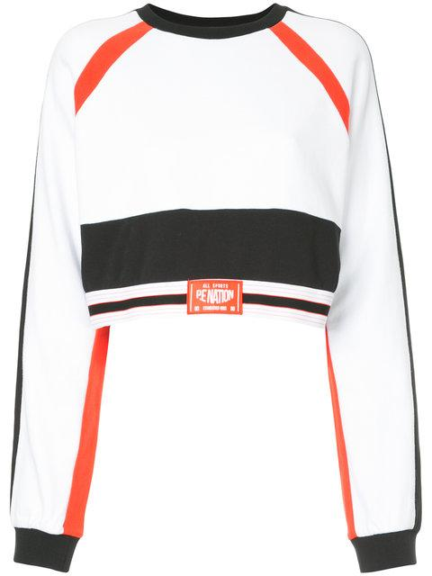 P.e Nation The Cannibal Cropped Sweatshirt In White