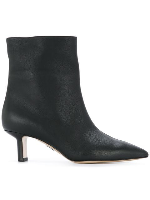 Paul Andrew Mangold Grained-Leather Ankle Boots In 900 Black