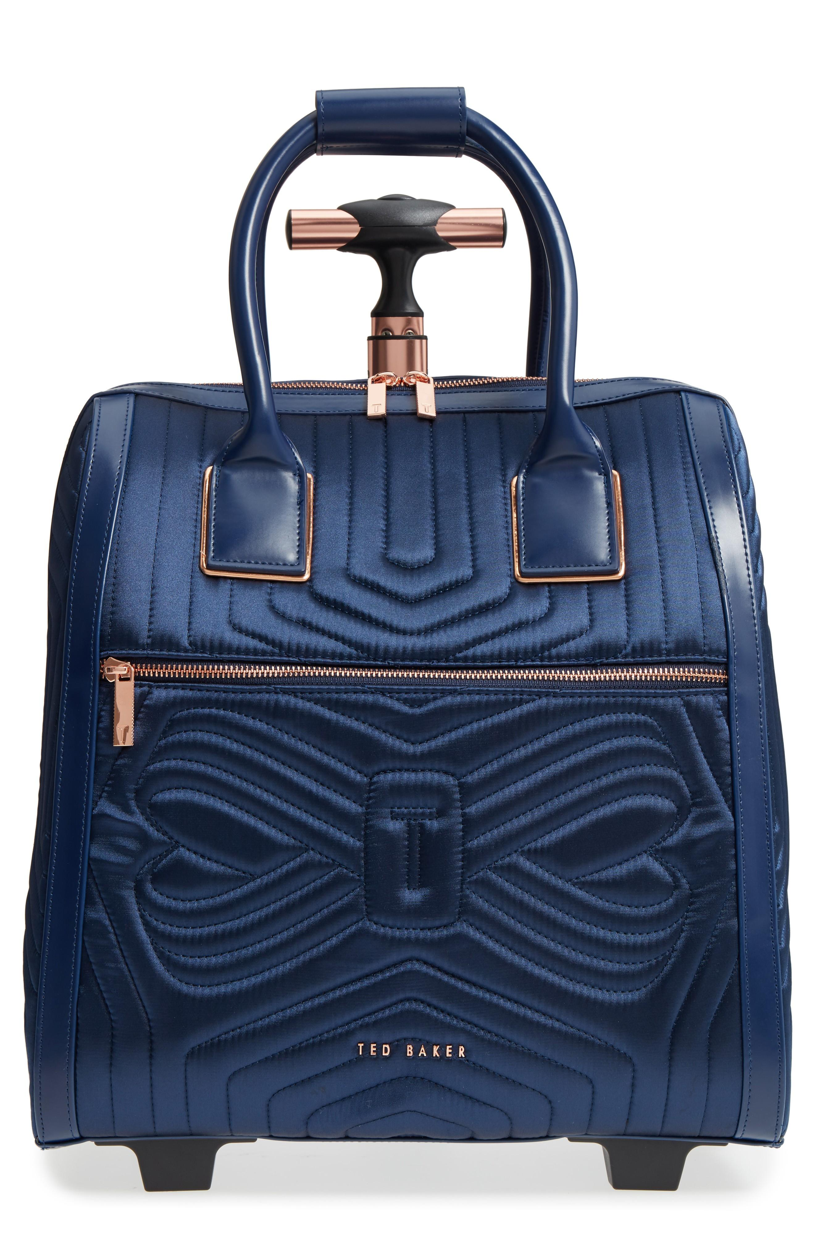 b611e59d1bde Ted Baker Anisee Quilted Wheeled Travel Bag - Blue In Navy