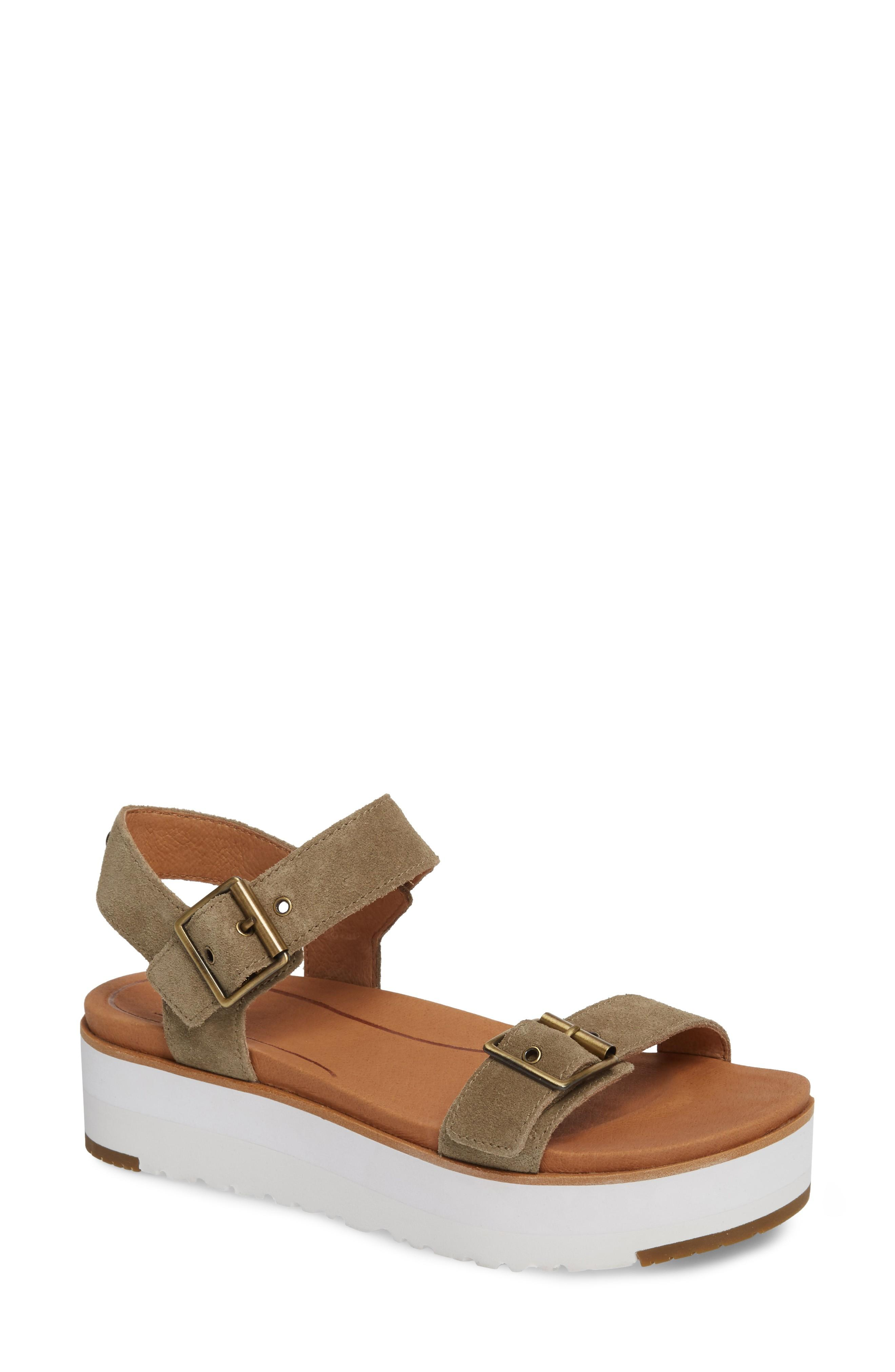 fab232d479d ... of a classic quarter-strap sandal outfitted with an Imprint by UGG  foam-cushioned footbed for comfort. Style Name  Ugg Angie Platform Sandal  (Women).