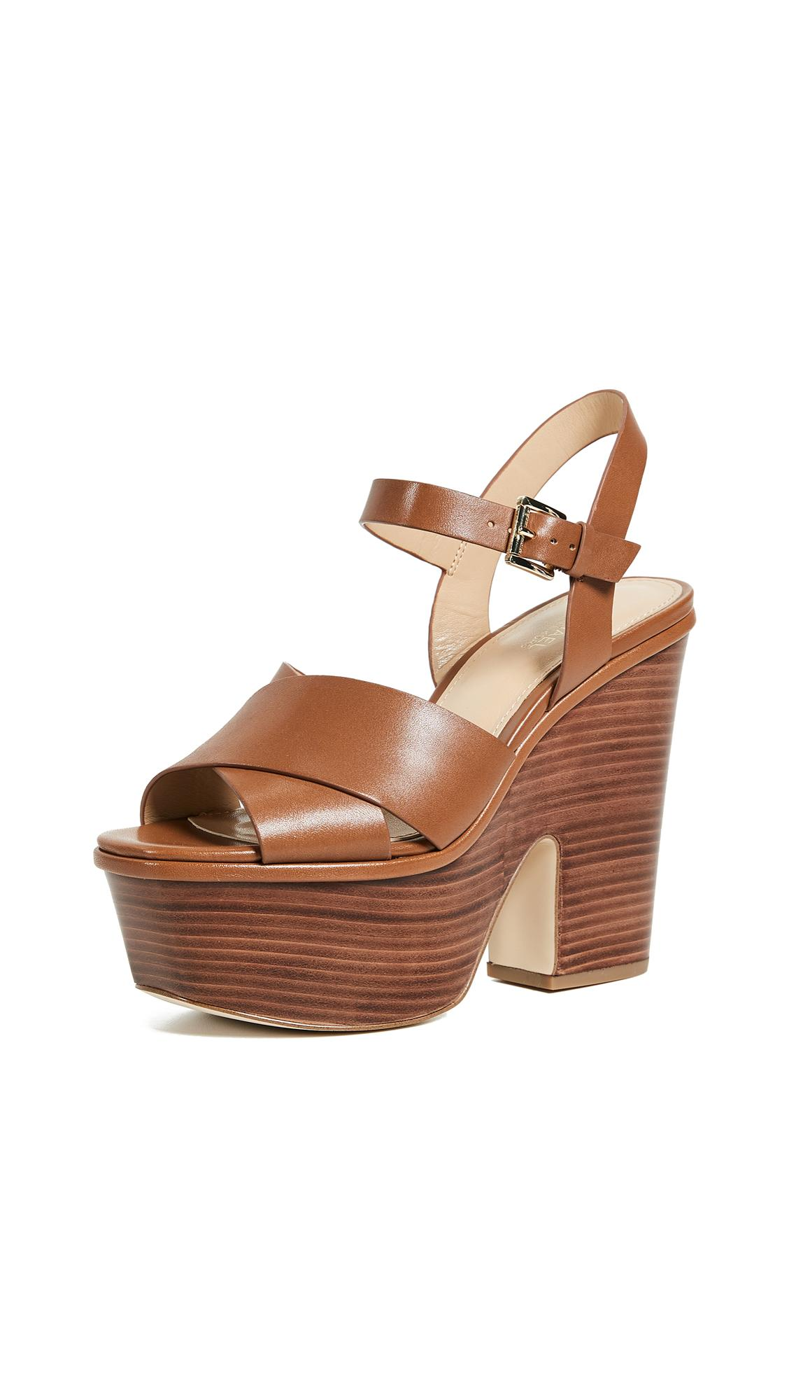 7f013cf8fc51 Michael Michael Kors Divia Demi Wedge Sandal In Luggage