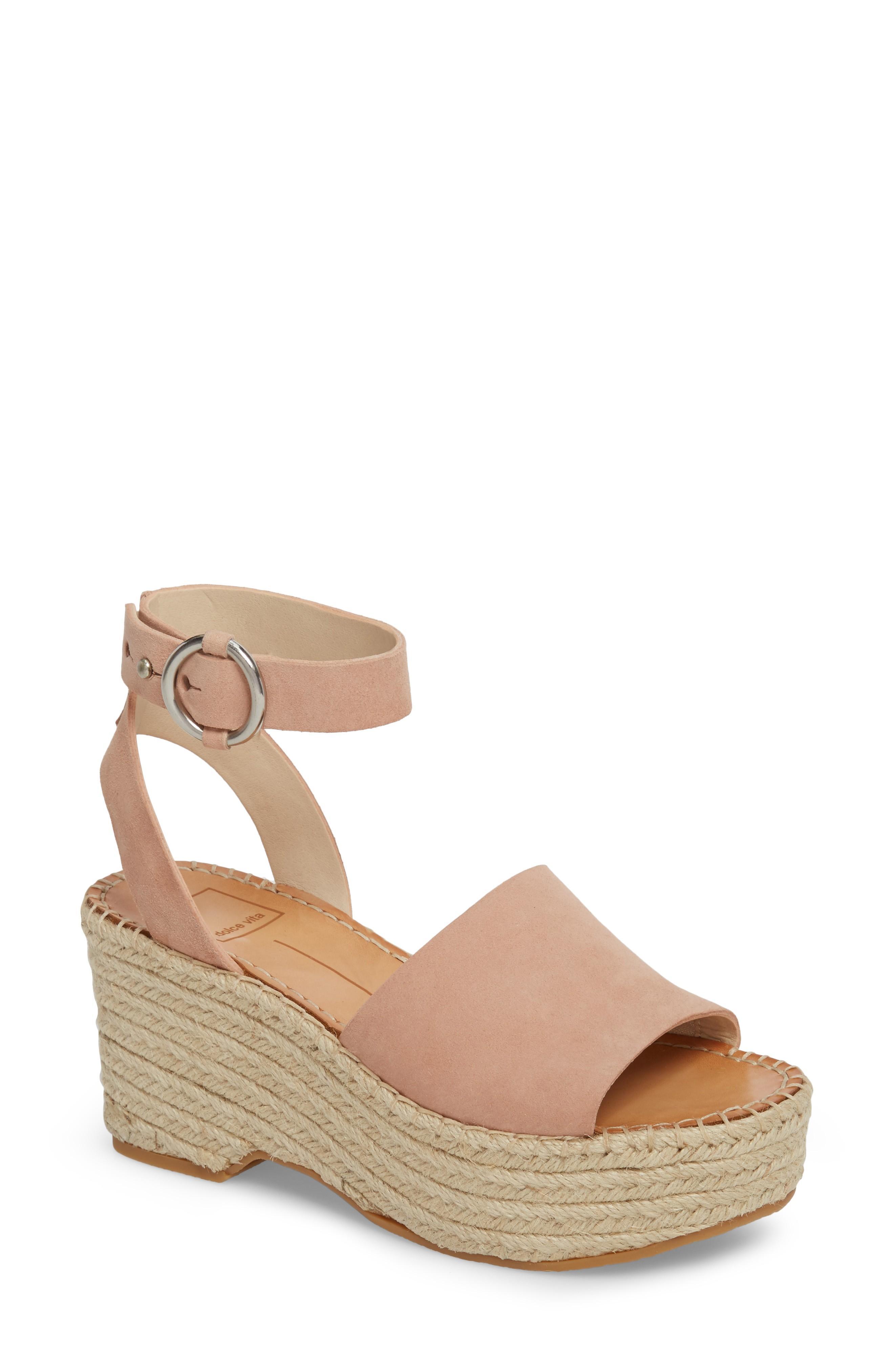 dc0ca159f166 Dolce Vita Lesly Espadrille Platform Sandal In Rose Suede
