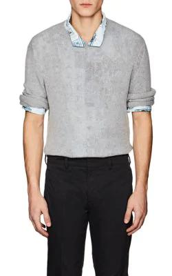 Prada Cashmere Crewneck Sweater In Gray