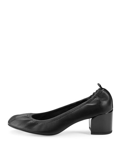862eb6f4c19d Lanvin Leather Chunky-Heel 55Mm Ballerina Pump In Black