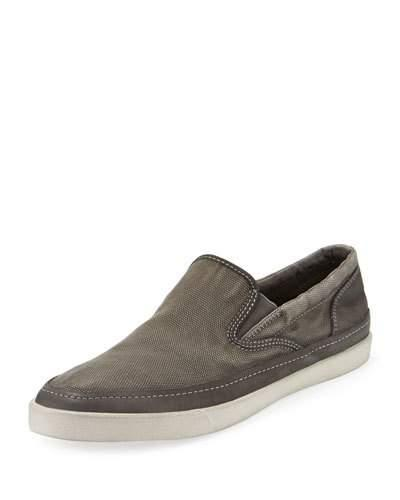 John Varvatos Men's Distressed Slip-On Sneakers In Ash