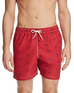 ba13a3ec59d14 Barbour Men's Beacon-Print Swim Trunks In Red | ModeSens