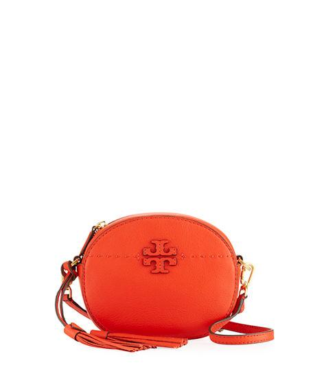 8d0016d13e2 Tory Burch Mcgraw Leather Crossbody Bag - Red In Bright Red