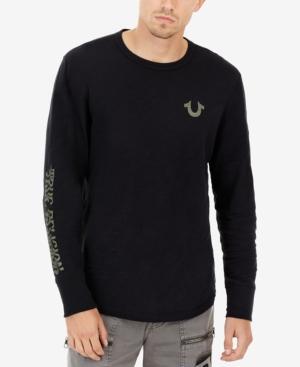 c9e7f824d7e True Religion Distorted Logo Long-Sleeve T-Shirt In True Black ...