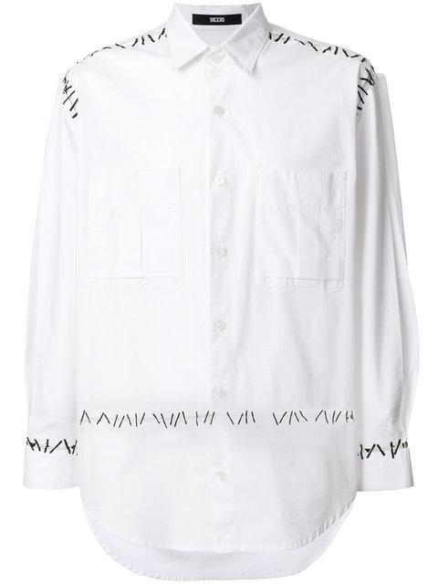 Ktz Pin Embroidery Shirt - White