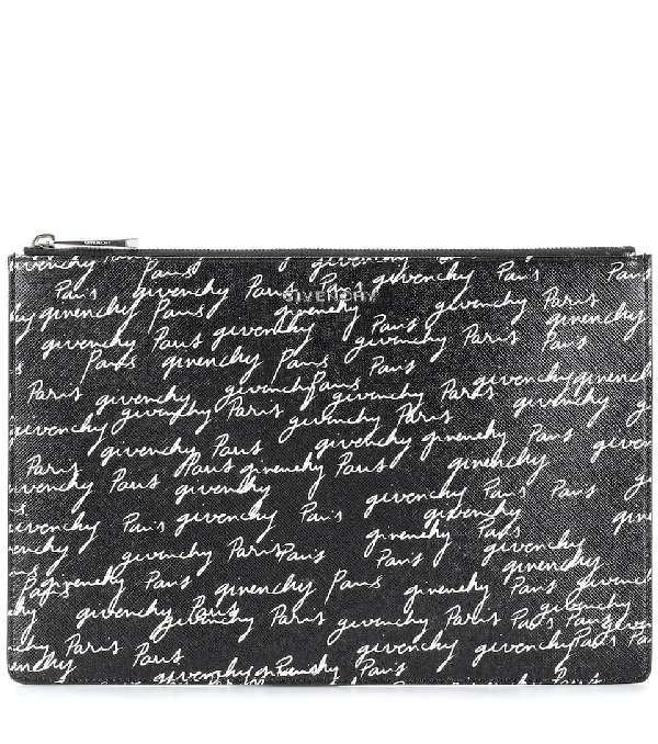 f38bc757960d4b Givenchy Medium Print Coated Canvas Pouch - Black | ModeSens