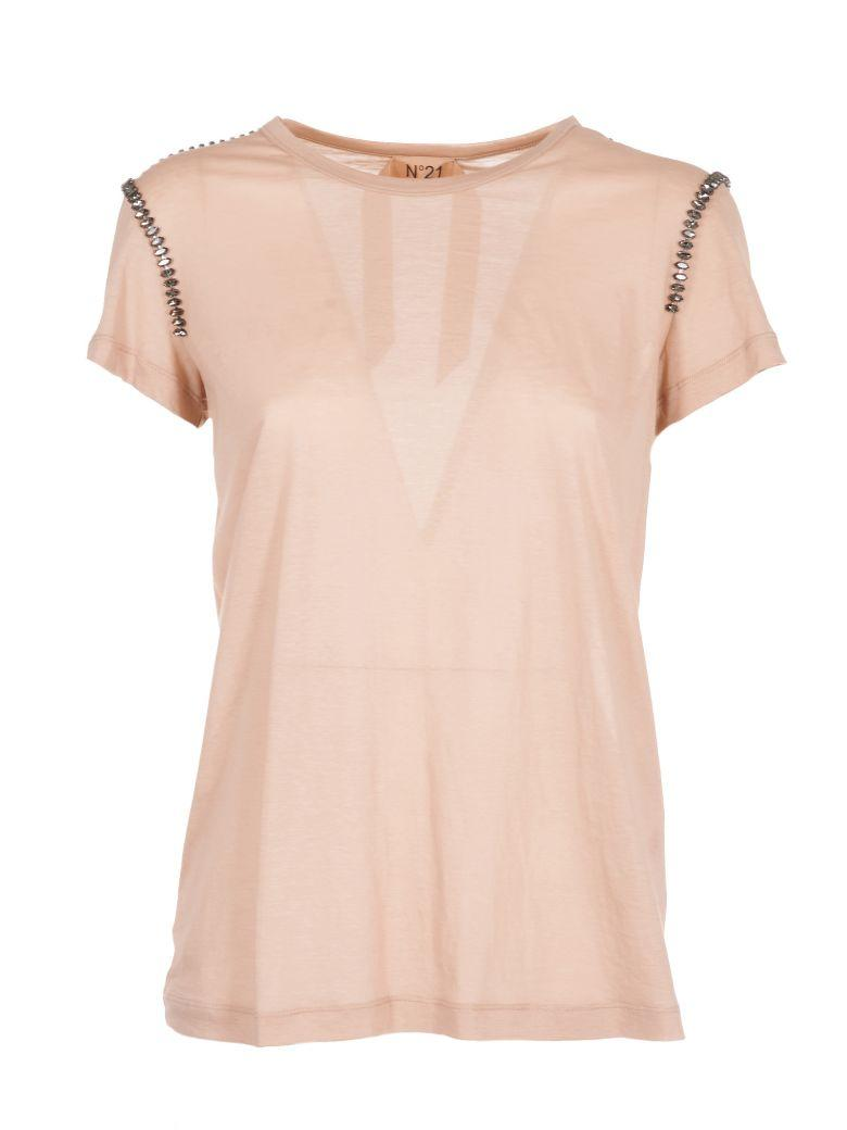 N°21 Embellished T-shirt In Pink