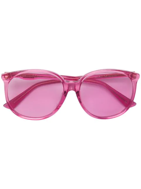 Gucci Oversized Rounded Sunglasses In Pink