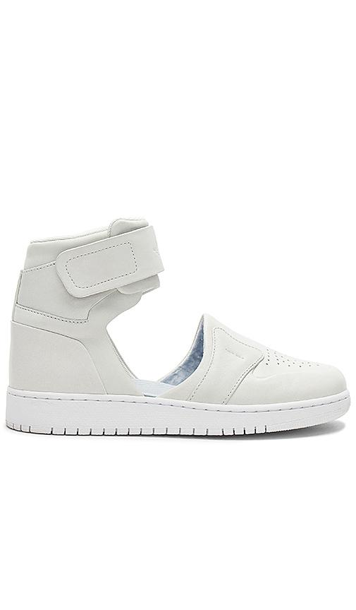 Nike The 1 Reimagined Air Jordan 1 Lover Cutout Leather High-top Sneakers In White