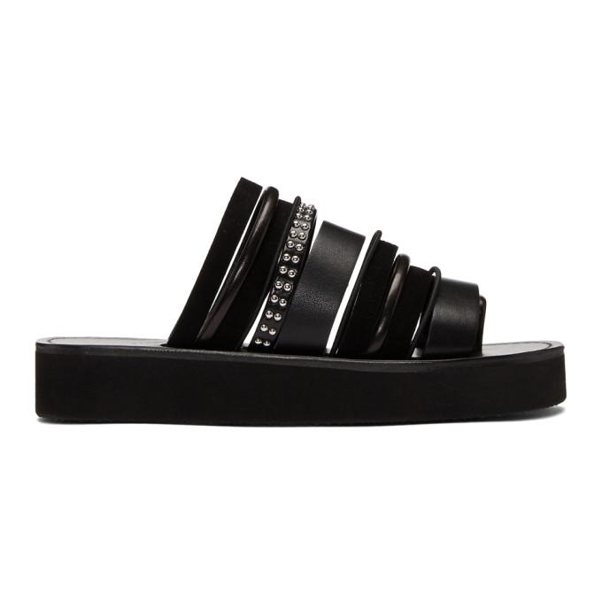 bb1e8cf5158f 3.1 Phillip Lim Eva Studded Leather And Suede Sandals In Black ...