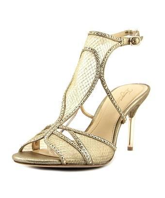 Imagine Vince Camuto Pember Women  Open Toe Suede Gold Sandals
