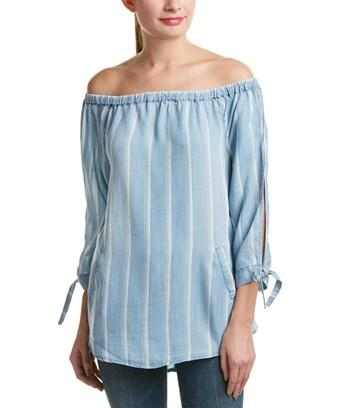 Billy T 3/4-sleeve Top In Blue