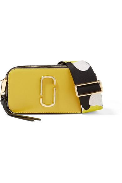 6b2bfc18f94d Marc Jacobs Snapshot Color-Block Textured-Leather Shoulder Bag ...
