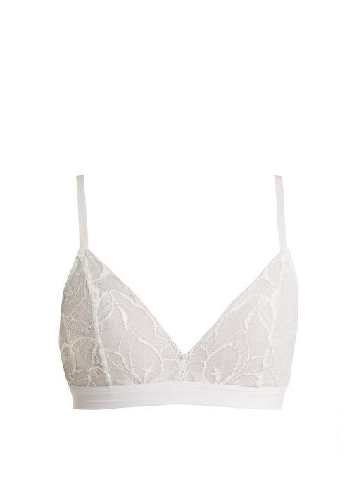 Hanro Manolya Floral-lace Soft-cup Bra In White
