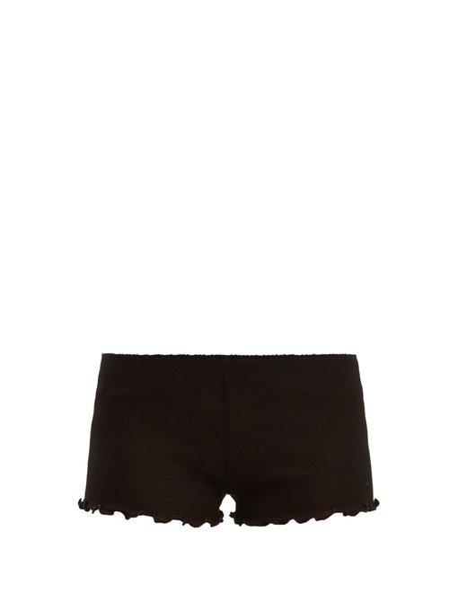 Araks Kat Purl-merrow Edged Cotton Shorts In Black