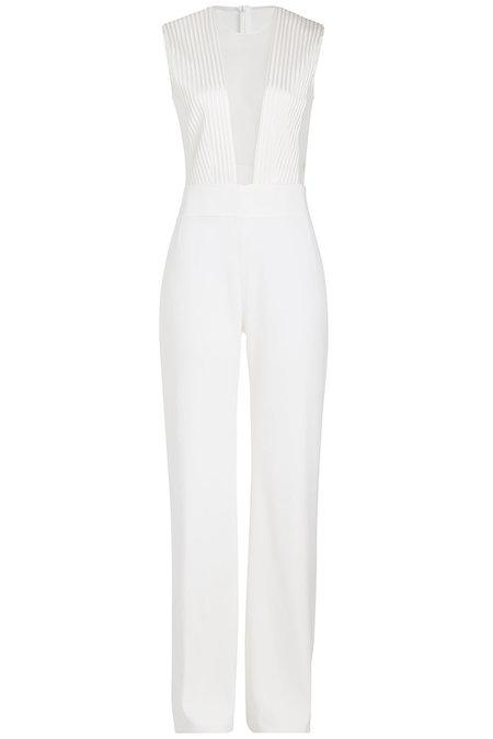 Galvan Tuxedo Jumpsuit In White