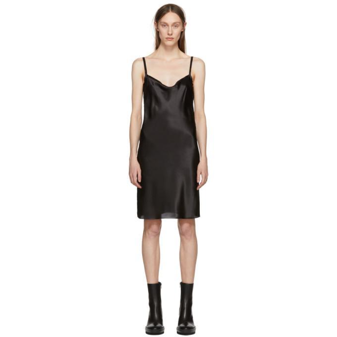 Ann Demeulemeester Black Silk June Slip Dress In 099 Black