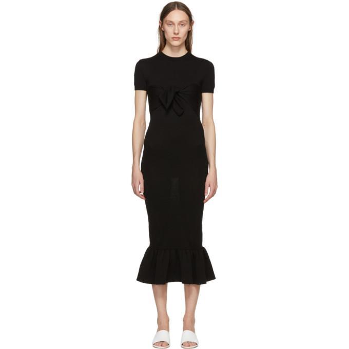 Khaite Black Rosalind Dress In 200 Black