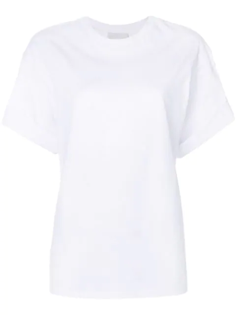 3.1 Phillip Lim Pierced Short-sleeve T-shirt In Wh100 White
