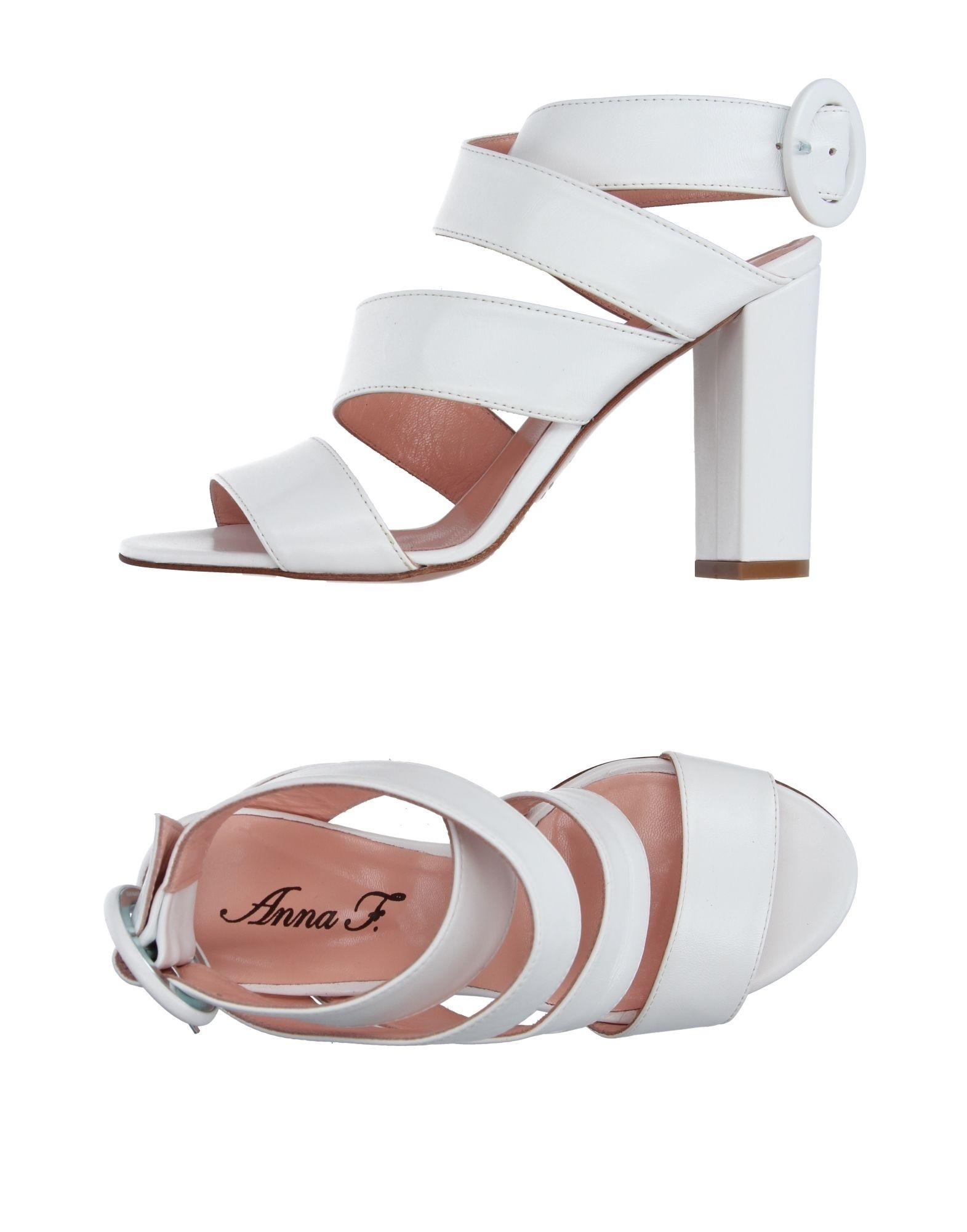 Anna F. Sandals In White