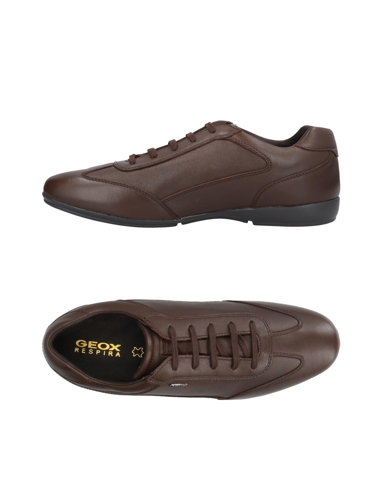 Geox Sneakers In Dark Brown